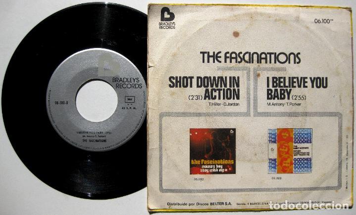 Discos de vinilo: The Fascinations - Shot Down In Action - Single Bradleys Records 1975 BPY - Foto 2 - 168286628