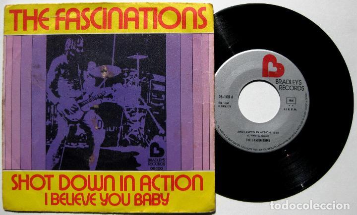 THE FASCINATIONS - SHOT DOWN IN ACTION - SINGLE BRADLEY'S RECORDS 1975 BPY (Música - Discos - Singles Vinilo - Funk, Soul y Black Music)