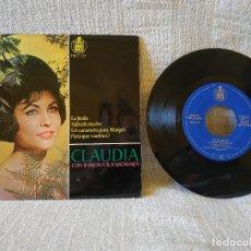 Discos de vinilo: CLAUDIA CON RAMON Y SUS SHOWMEN - LA JIRAFA + 3 - EP HISPAVOX DEL AÑO 1964 EN ESTADO NUEVO, SIN USO. Lote 168291920