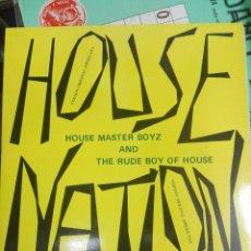 Discos de vinilo: HOUSE MASTER BOYZ* AND THE RUDE BOY OF HOUSE – HOUSE NATION , 1987. COMO NUEVO. Lote 168296720