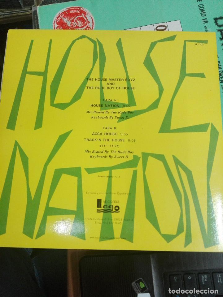 Discos de vinilo: House Master Boyz* And The Rude Boy Of House – House Nation , 1987. COMO NUEVO - Foto 2 - 168296720