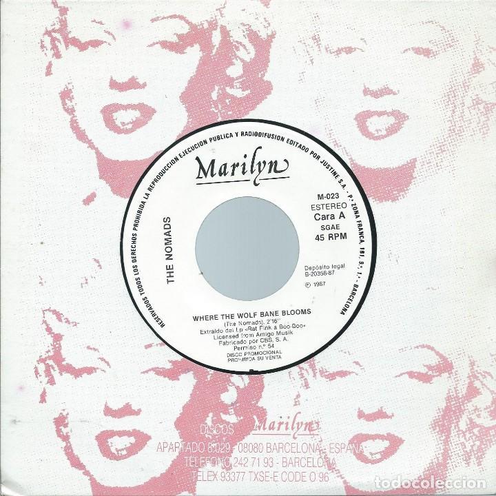 THE NOMADS, WHERE THE WOLF..., -PROMO MARILYN 1987,SOLO CARA A- (Música - Discos - Singles Vinilo - Pop - Rock Internacional de los 90 a la actualidad)