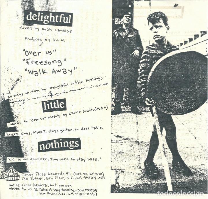 Discos de vinilo: DELIGHTFUL LITTLE NOTHING, OVER US. -EP CANDY FLOSS 1993- - Foto 2 - 168300324