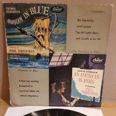 Discos de vinilo: GEORGE GERSHWIN / RAPSODIA EN BLUE / UN AMERICANO EN PARÍS / LP-CAPITOL / MBC. ***/***. Lote 168302936
