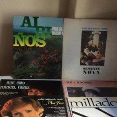 Discos de vinilo: LOTE DE SEIS DISCOS LPS GRUPOS GALLEGOS : MILLADOIRO, ANA KIRO, SEMENTE NOVA ... . Lote 168304508