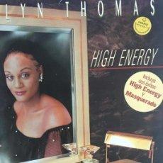 Discos de vinilo: EVELYN THOMAS – HIGH ENERGY SELLO: ARIOLA – I-206.554 FORMATO: VINYL, LP, ALBUM PAÍS: SPAIN. Lote 138929230