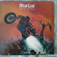 Discos de vinilo: MEAT LOAF -BAT OUT OF HELL - LP EPIC 1977 ED. INGLESA S EPC 82419 BUENAS CONDICIONES.. Lote 168341784