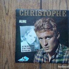 Discos de vinilo: CHRISTOPHE - ALINE + JE T' AI RETROUVEE + JE NE T' AIME PLUS + LA FILLE AUX YEUX BLEUS. Lote 168359056
