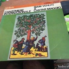 Disques de vinyle: CANZONIERE INTERNAZIONALE (SIAM VENUTI A CANTAR MAGGIO) LP ESPAÑA 1979 (B-4). Lote 168361416