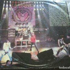 Discos de vinilo: THE RAMONES - 'LOCO' LIVE . SOLO ENCARTE Y VINILO MUY BUENO. Lote 168363080
