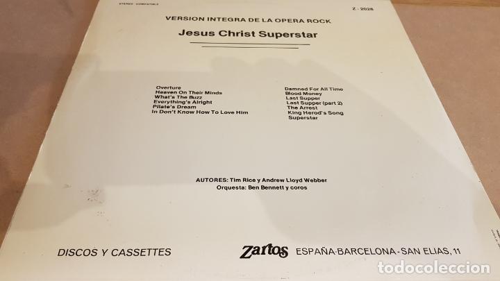 Discos de vinilo: ORQUESTA BEN BENNETT Y COROS / JESÚS CHRIST SUPERSTAR / OPERA-ROCK / LP-ZARTOS-1975 / MBC. ***/*** - Foto 2 - 168363716