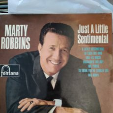 Discos de vinilo: MARTY ROBBINS ‎– JUST A LITTLE SENTIMENTAL. Lote 168365056