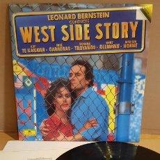 Discos de vinilo: WEST SIDE STORY / LEONARD BERNSTEIN. DOBLE LP-GATEFOLD / GRAMMOPHON - MUY BUENA CALIDAD ***/***. Lote 168380300