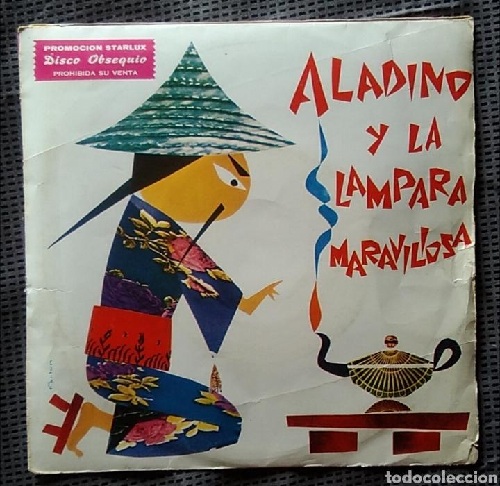 SINGLE VINILO ALADINO Y LA LÁMPARA MARAVILLOSA CUENTOS INFANTILES 45 RPM AÑO 1967 (Música - Discos - Singles Vinilo - Música Infantil)