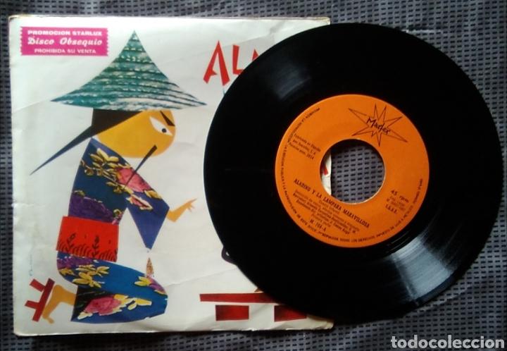 Discos de vinilo: Single vinilo aladino y la lámpara maravillosa cuentos infantiles 45 rpm año 1967 - Foto 2 - 168395701
