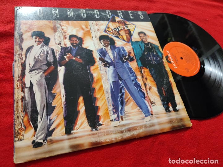 COMMODORES UNITED LP 1986 POLYDOR USA (Música - Discos - LP Vinilo - Funk, Soul y Black Music)
