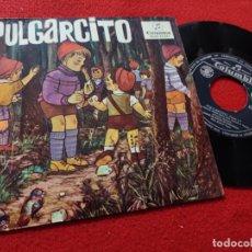 Discos de vinil: CUADRO ACTORES RADIO MADRID PULGARCITO CUENTO PARTE 1º/FINAL 7'' EP 1964 COLUMBIA. Lote 168403320