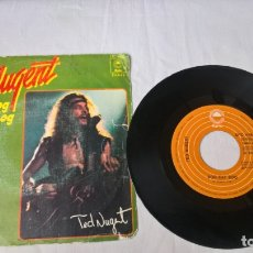 Discos de vinilo: MUSICA SINGLE: TED NUGENT - DOG EAT DOG (ABLN). Lote 168403696
