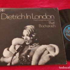 Discos de vinilo: MARLENE DIETRICH IN LONDON & BURT BACHARACH LP 1965 PYE/SPECIAL EDICION INGLESA ENGLAND UK. Lote 168431056