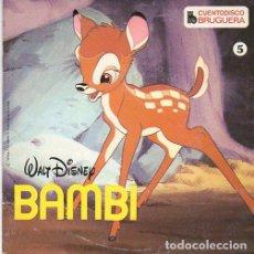 Discos de vinilo: WALT DISNEY - BAMBI (CUENTODISCO) - SINGLE BRUGUERA 1967. Lote 168451392
