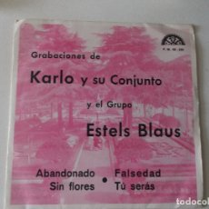 Discos de vinilo: KARLO Y SU CONJUNTO / GRUPO ESTELS BLAUS – EP PROMO 1972, BERTA, F.M.- 68-222. Lote 168454816