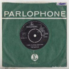 Discos de vinilo: THE BEATLES I WANT TO HOLD YOUR HAND / THIS BOY 1963 ORIGINAL UK SINGLE R5084. Lote 168456444
