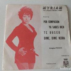 Discos de vinilo: MYRIAM CON LA ORQUESTA FANTASIA Y NARBO, EP, POR COMPASION + 3 , AÑO 1971 PROMO. Lote 168457264