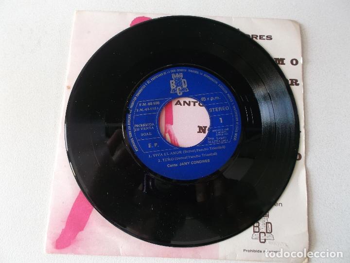 Discos de vinilo: JANY CONDRES Y ANTONIO LATORRE / TEMO , VIVA EL AMOR / NO SE A QUIEN / NO SOY EL PRIMERO / EP BCD - Foto 3 - 168457684