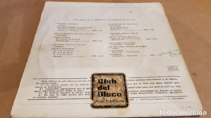 Discos de vinilo: ORQUESTA FILARMONÍA / VON KARAJAN / CUENTOS DE HOFFMANN / EP-VOZ DE SU AMO / MBC. ***/*** - Foto 2 - 168459540