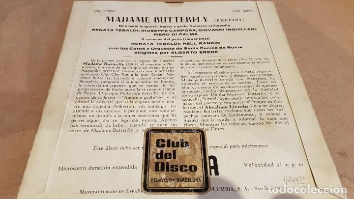 Discos de vinilo: MADAM BUTTERFLY / VARIOS ARTISTAS / EP - DECCA-AÑOS '50 / MBC. ***/*** - Foto 2 - 168460028
