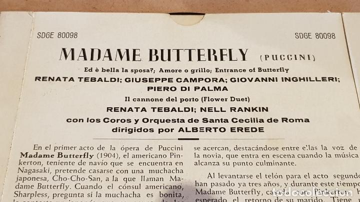Discos de vinilo: MADAM BUTTERFLY / VARIOS ARTISTAS / EP - DECCA-AÑOS '50 / MBC. ***/*** - Foto 3 - 168460028