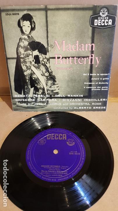 MADAM BUTTERFLY / VARIOS ARTISTAS / EP - DECCA-AÑOS '50 / MBC. ***/*** (Música - Discos de Vinilo - EPs - Clásica, Ópera, Zarzuela y Marchas)