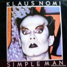 Discos de vinilo: KLAUS NOMI - SIMPLE MAN LP + INSERT SPAIN 1982. Lote 168460148