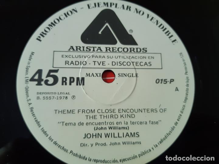 Discos de vinilo: ENCUENTROS EN LA TERCERA FASE- MAXI SINGLE PROMO SPAIN 1978- VINILO COMO NUEVO. - Foto 3 - 168470792