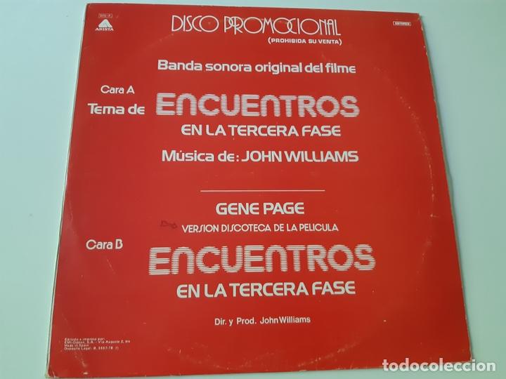 ENCUENTROS EN LA TERCERA FASE- MAXI SINGLE PROMO SPAIN 1978- VINILO COMO NUEVO. (Música - Discos de Vinilo - Maxi Singles - Bandas Sonoras y Actores)