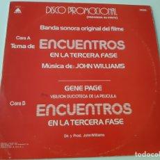Discos de vinilo: ENCUENTROS EN LA TERCERA FASE- MAXI SINGLE PROMO SPAIN 1978- VINILO COMO NUEVO.. Lote 168470792
