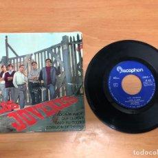Discos de vinilo: EP LOS JOVENES /ADIOS MI AMOR/QUE LLORAR/BAJO TU TECHO/CORAZON DE PIEDRA DISCOPHON . Lote 168476152