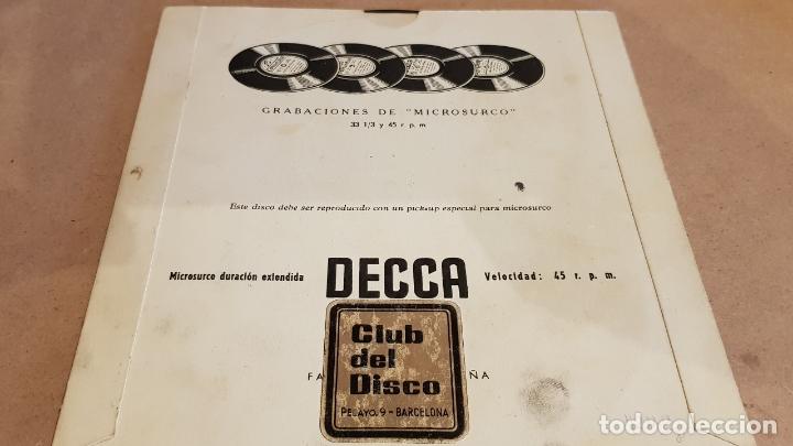 Discos de vinilo: MARIO DEL MONACO / RECITAL DE PUCCINI / EP - DECCA-AÑOS '50 / CASI LUJO. - Foto 3 - 168483352