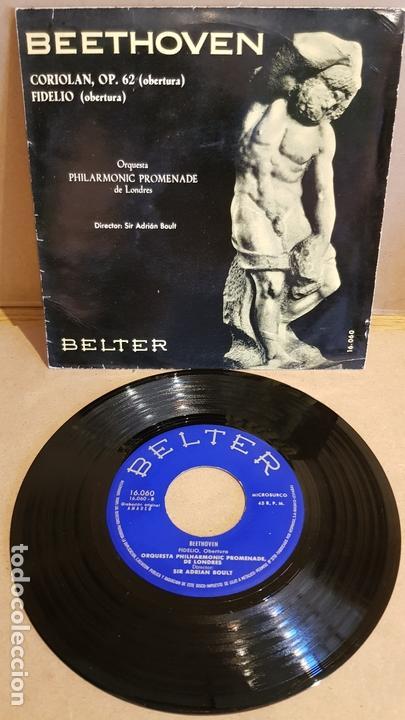 BEETHOVEN / CORIOLAN - FIDELIO / EP - BELTER-1961 / MBC. ***/*** (Música - Discos de Vinilo - EPs - Clásica, Ópera, Zarzuela y Marchas)