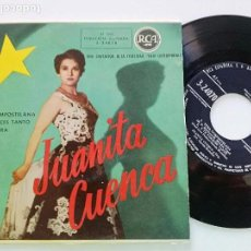 Discos de vinilo: JUANITA CUENCA - TUNA COMPOSTELANA +3 - EP RCA 1950'S. Lote 168486880