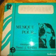Discos de vinilo: DANIEL J. WHITE. MUSIQUE POUR SPORTS, EVENEMENTS. MONTPARNASSE, 1969. EDC. FRANCIA. PROMO .IMPEC(#). Lote 168490096