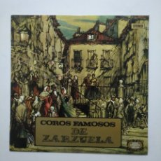 Discos de vinilo: COROS FAMOSOS DE ZARZUELA. SERIE ETIQUETA DORADA. LP. TDKDA55. Lote 168492256