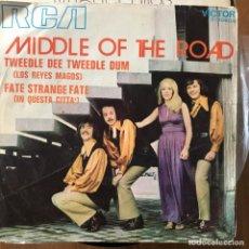 Discos de vinilo: MIDDLE OF THE ROAD - TWEEDLE DEE TWEEDLE DUM - SINGLE RCA 1971 . Lote 168492932