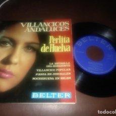 Discos de vinilo: DISCO VINILO DE MÚSICA PERLITA DE HUELVA VILLANCICOS ANDALUCES. Lote 168496668