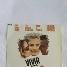 Discos de vinilo: VIVIR PARA VIVIR BSO 1967. Lote 168497109