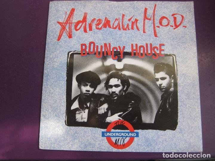 ADRENALIN M.O.D. SG MCA 1988 - BOUNCY HOUSE (THE UNDERGROUND MIX) +1 ACID HOUSE ELECTRONICA DISCO (Música - Discos - Singles Vinilo - Disco y Dance)