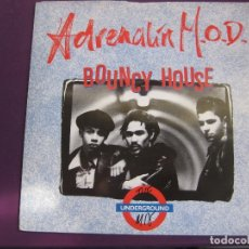 Discos de vinilo: ADRENALIN M.O.D. ‎SG MCA 1988 - BOUNCY HOUSE (THE UNDERGROUND MIX) +1 ACID HOUSE ELECTRONICA DISCO. Lote 168516548