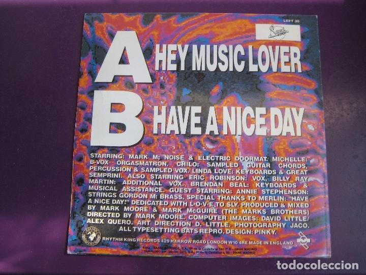 Discos de vinilo: S'Xpress Sg SANNI MUTE 1989 PROMO - Hey Music Lover (cara b lisa) - acid house electronica disco - Foto 2 - 168516892