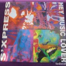 Discos de vinilo: S'XPRESS SG SANNI MUTE 1989 PROMO - HEY MUSIC LOVER (CARA B LISA) - ACID HOUSE ELECTRONICA DISCO. Lote 168516892