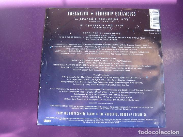 Discos de vinilo: Edelweiss Sg WEA 1992 - Starship Edelweiss +1 ELECTRONICA DISCO - EURO HOUSE - SIN USO - Foto 2 - 168517252